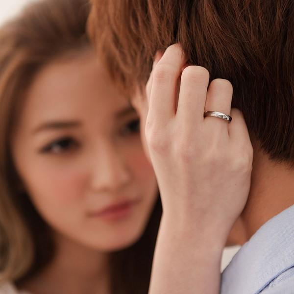 流星戀曲完美線條情侶對戒-女