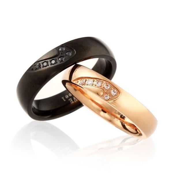 戀戀愛心組合式情侶戒指/一對販售