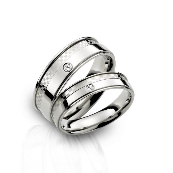 棋盤格紋情侶戒指/一對販售