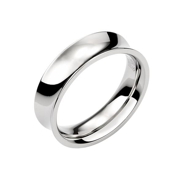 獨特凹面造型 西德鋼 男款戒指飾品