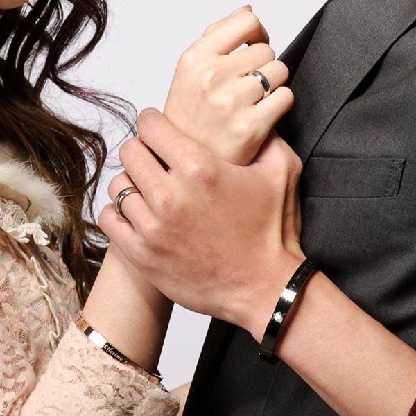 經典素面弧面 西德鋼 男款戒指飾品