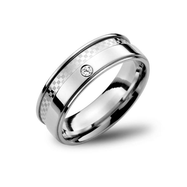 棋盤格紋戒指