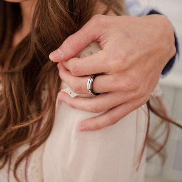 經典耀眼 西德鋼 男款戒指飾品