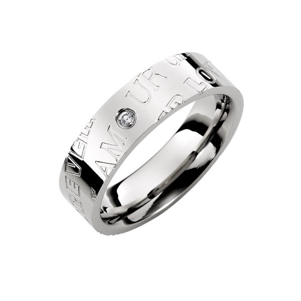愛的印記愛相隨 西德鋼 男款戒指飾品
