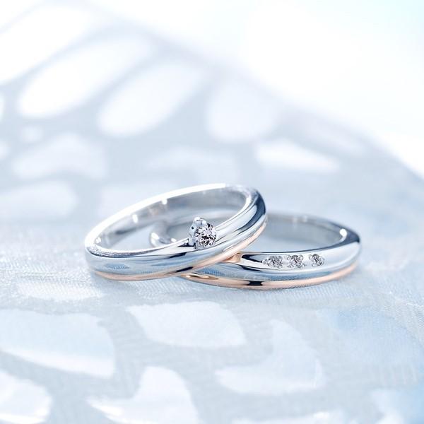 衷心所愛 鉑金(白金)鑽石結婚對戒