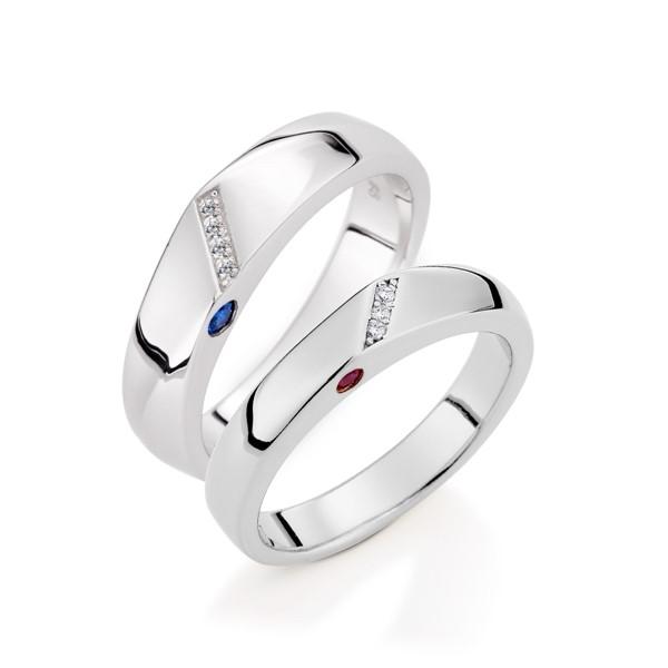 一生一世 鉑金(白金)鑽石結婚對戒