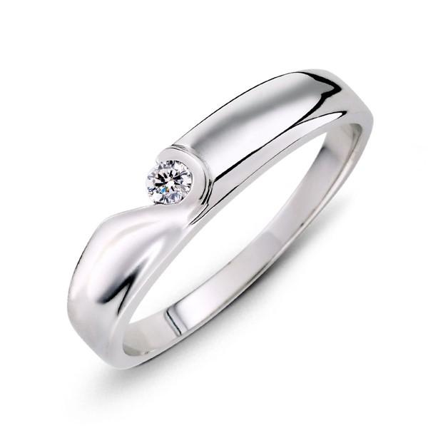 我們的愛心型 鉑金(白金)鑽石結婚對戒