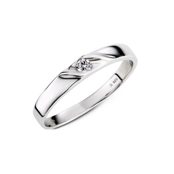 流星流線感 白金(鉑金)鑽石結婚對戒