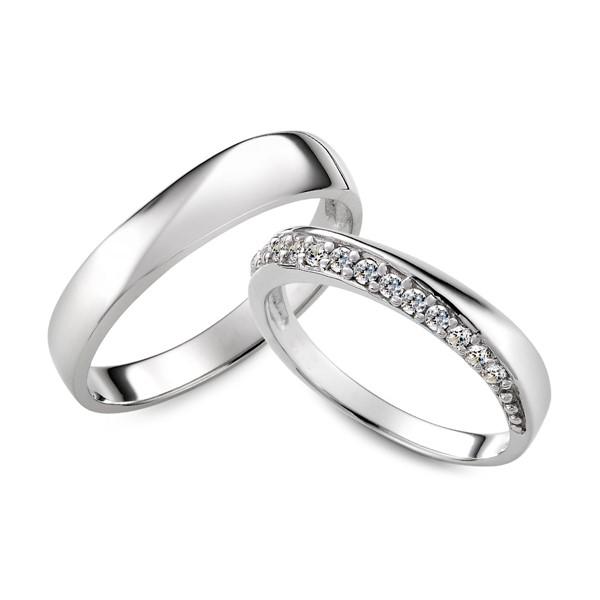 星空 鉑金(白金)鑽石結婚對戒