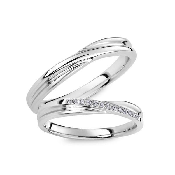 幸福交織 白金結婚對戒/一對販售