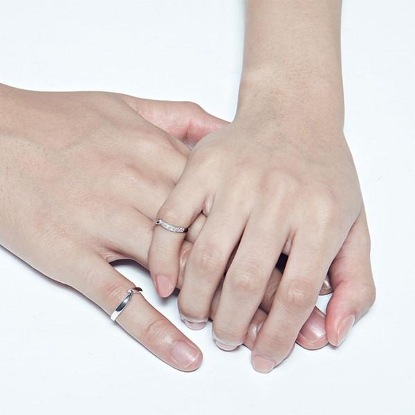 指尖的溫度白金結婚對戒/一對販售