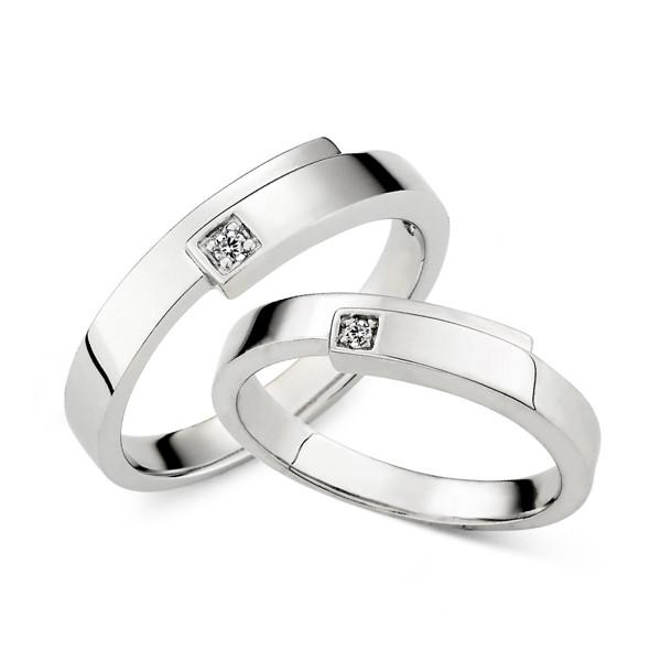 真實擁抱 鉑金(白金)鑽石結婚對戒