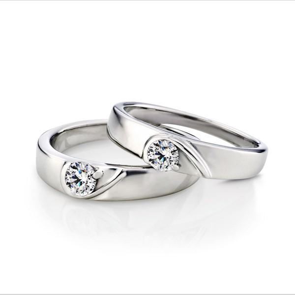 真愛相隨白金結婚對戒/一對販售