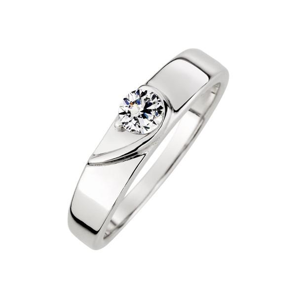 真愛相隨鉑金(白金)結婚對戒/一對販售