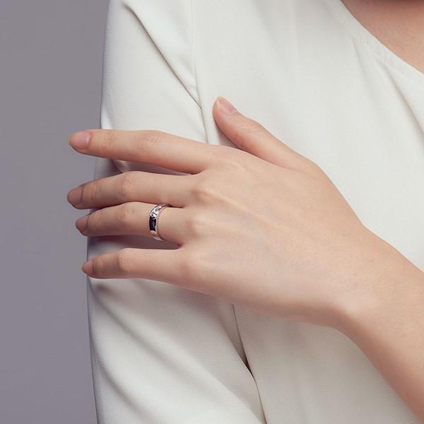 真愛相隨 鉑金(白金)鑽石結婚對戒