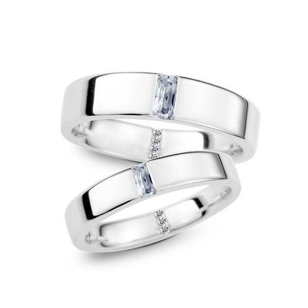 幸福一生一世 鉑金(白金)鑽石結婚對戒