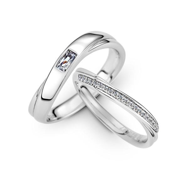 濃情蜜意 鉑金(白金)鑽石結婚對戒