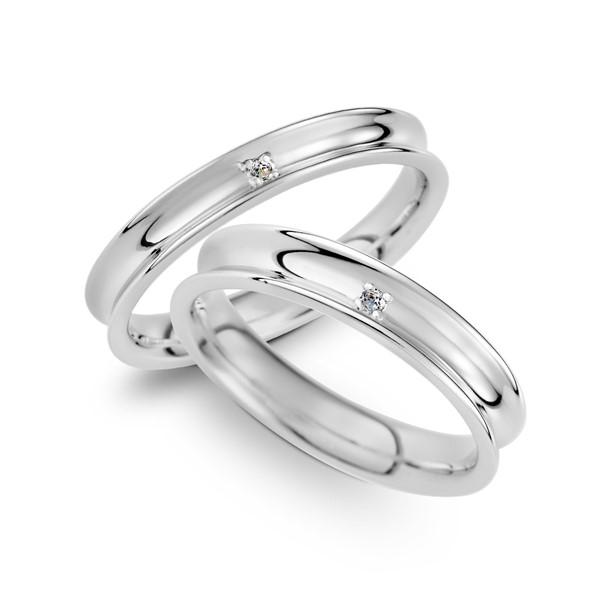 浪漫一生 鉑金(白金)鑽石結婚對戒