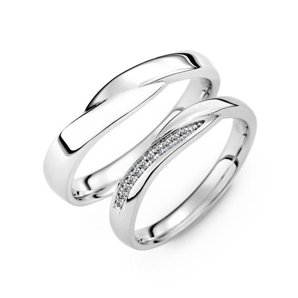 幸運星 鉑金(白金)鑽石結婚對戒