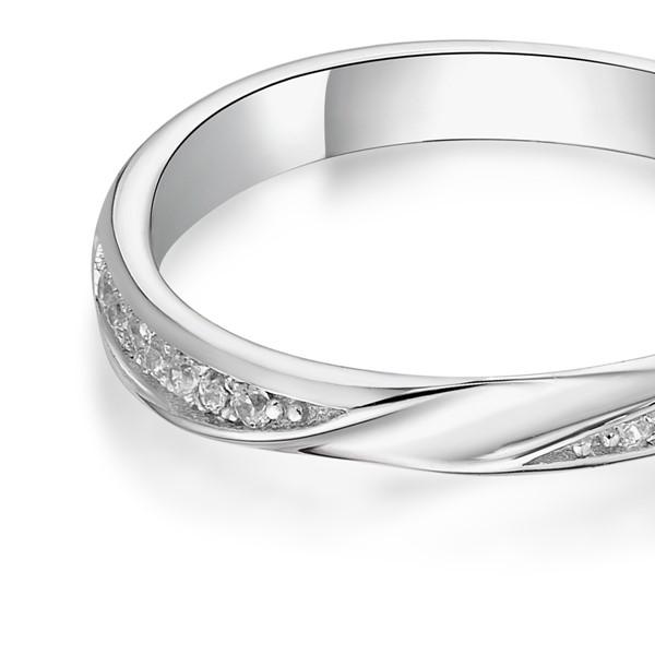 滿溢的幸福 鉑金(白金)鑽石結婚對戒