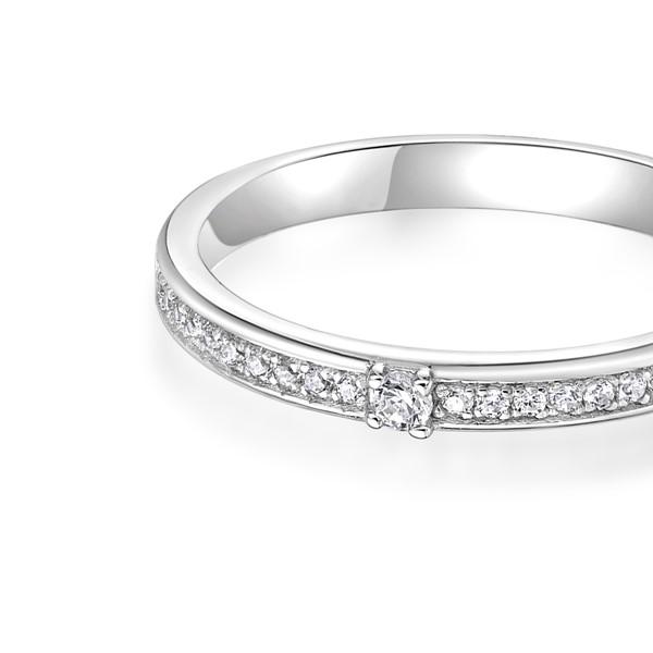 永恆之星 鉑金(白金)鑽石結婚對戒