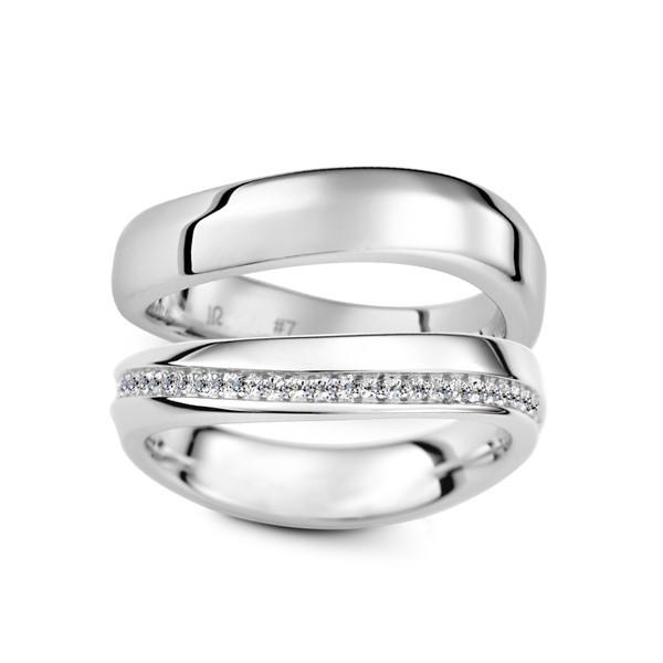 珍愛永生 鉑金(白金)鑽石結婚對戒