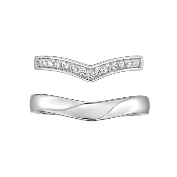 最美的時刻 鉑金(白金)鑽石結婚對戒