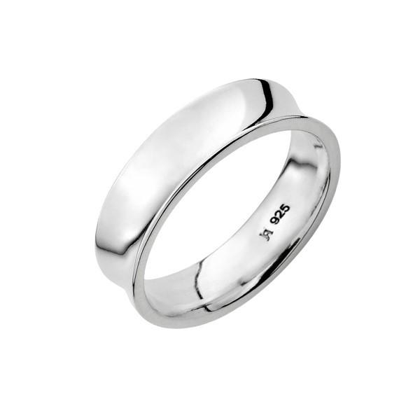 經典凹面 鉑金(白金)結婚對戒