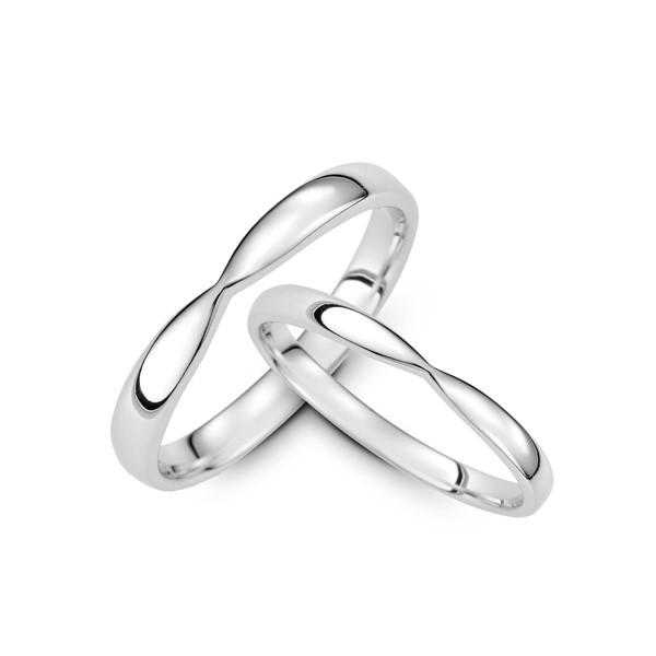 純粹的愛 鉑金(白金)結婚對戒