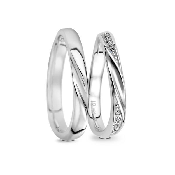 幸福樂章 鉑金(白金)鑽石結婚對戒