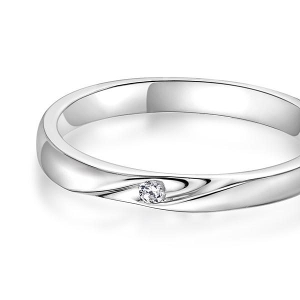 維繫幸福 鉑金(白金)鑽石結婚對戒