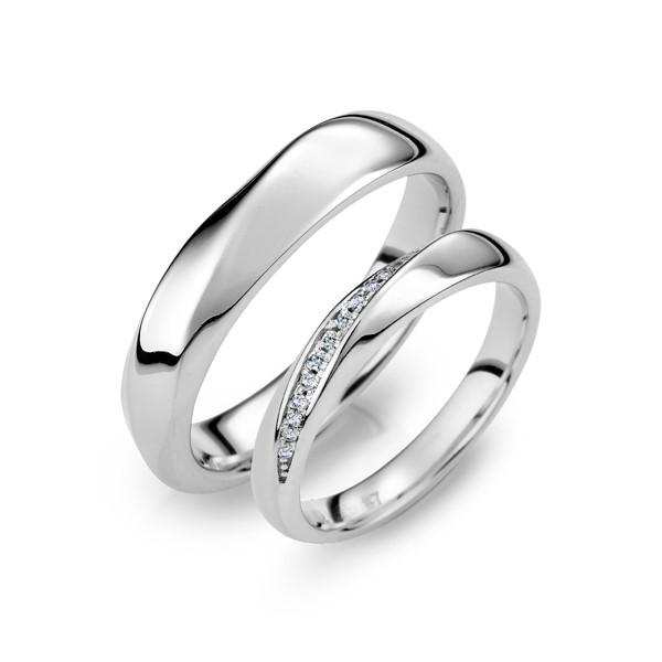 閃爍與祝福 白金(鉑金)鑽石結婚對戒