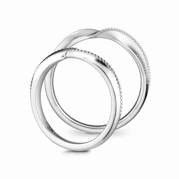 守護愛情 鉑金(白金)鑽石結婚對戒