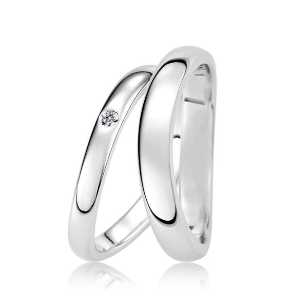 遇見愛 鉑金(白金)鑽石結婚對戒