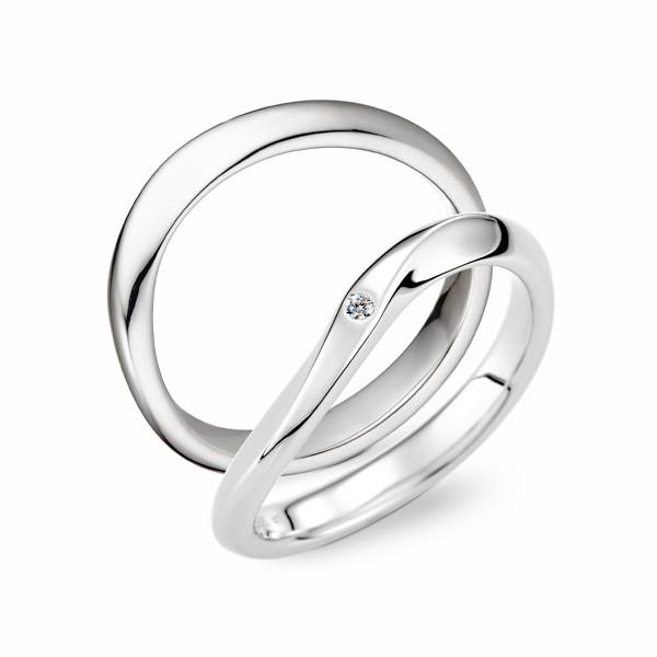 遇見幸福 鉑金(白金)鑽石結婚對戒