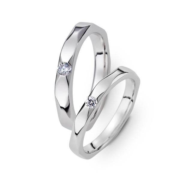 獨家記憶 鉑金(白金)鑽石結婚對戒