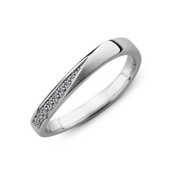 純潔之愛 鉑金(白金)鑽石結婚對戒
