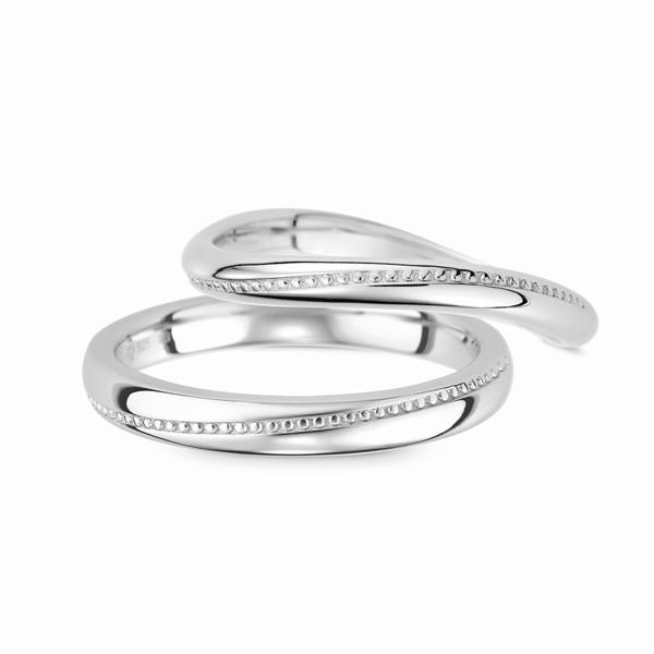 愛的約定 鉑金(白金)鑽石結婚對戒