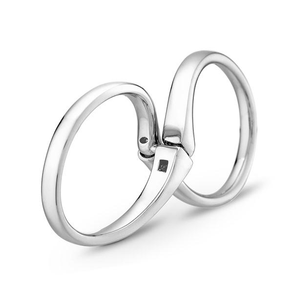無限的愛 鉑金(白金) 鑽石結婚對戒
