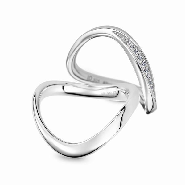 無限愛永恆 鉑金(白金)鑽石結婚對戒