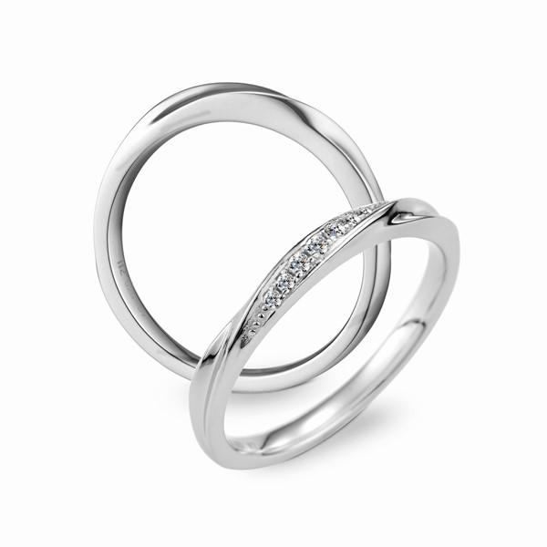 伊漾戀曲 鉑金(白金)鑽石結婚對戒