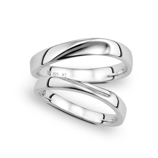 專屬情人灣 鉑金(白金)鑽石結婚對戒