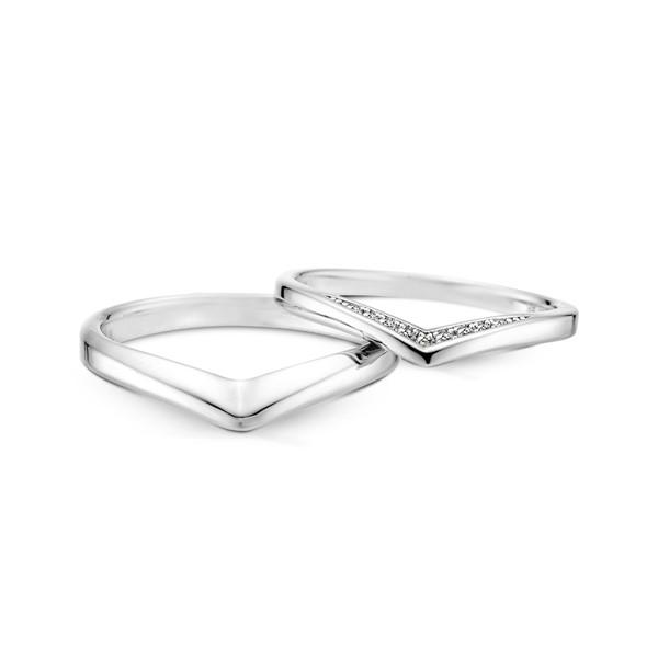 V愛成真 鉑金(白金)鑽石結婚對戒