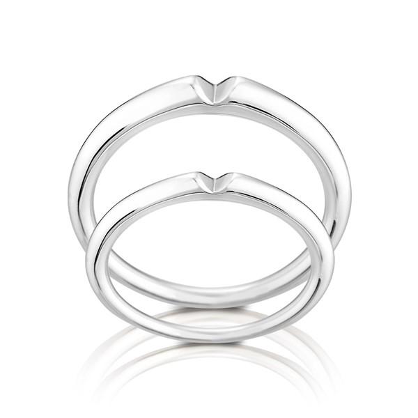 窩心 鉑金(白金)鑽石結婚對戒