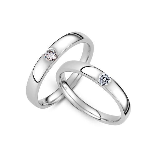 永恆凝望 白金(鉑金)鑽石結婚對戒