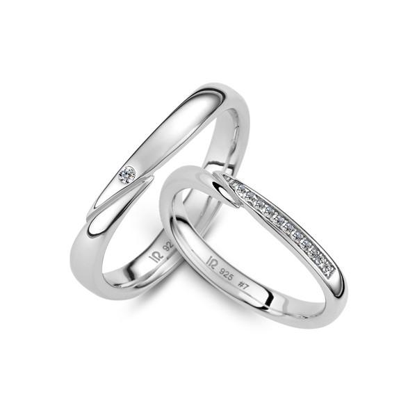 戀愛旅程 鉑金(白金)鑽石結婚對戒