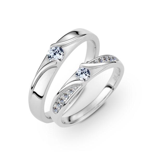 情書 鉑金(白金)鑽石結婚對戒
