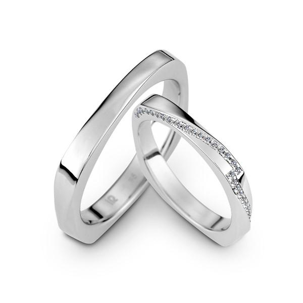 以你為名 鉑金(白金)鑽石結婚對戒
