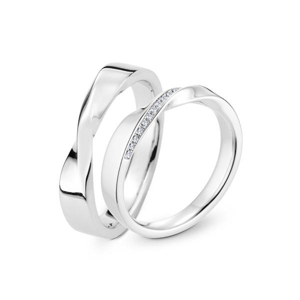 永恆眷戀 鉑金(白金)鑽石結婚對戒