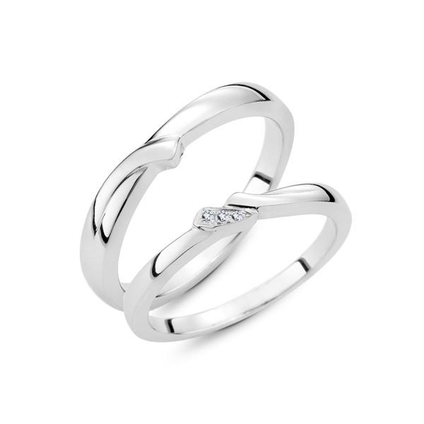 閃耀幸福 鉑金(白金)鑽石結婚對戒